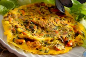 moules-en-omelette